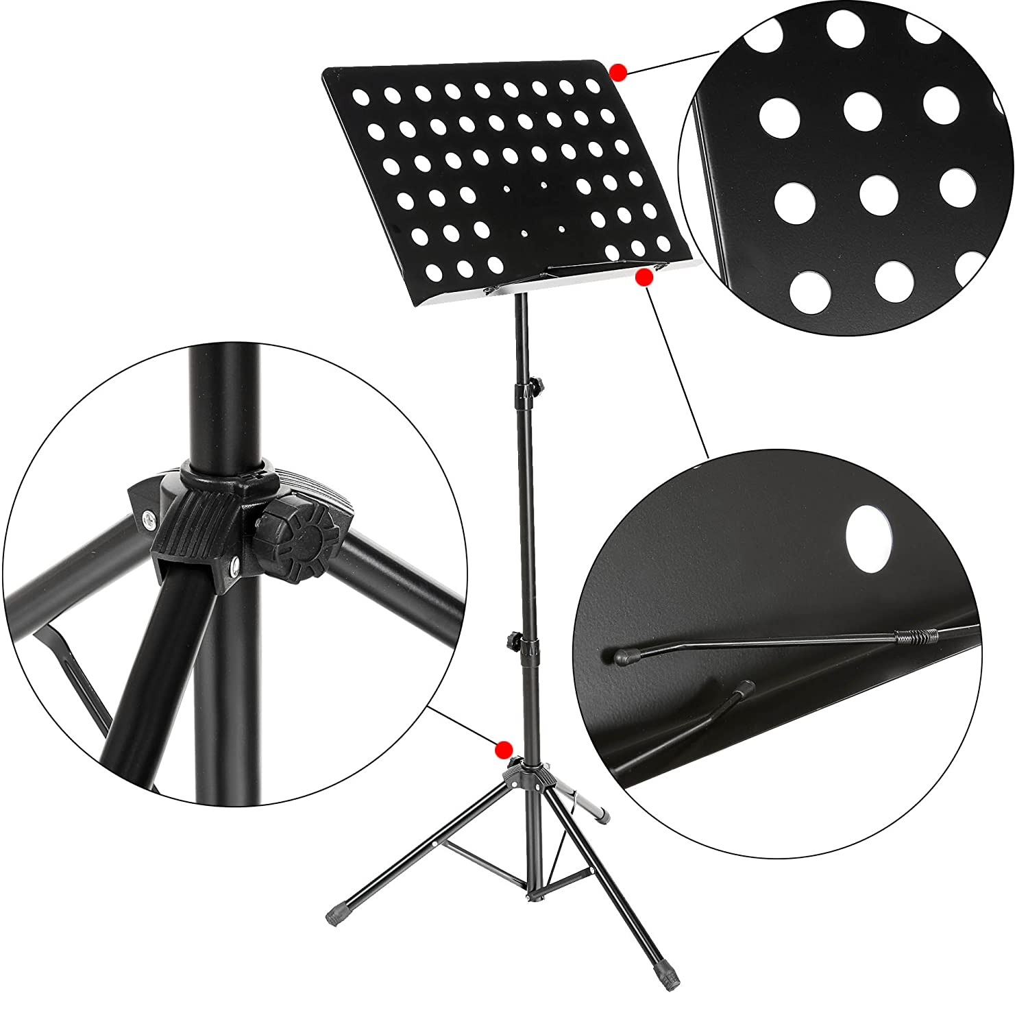 coocheer black folding music conductor stand sheet