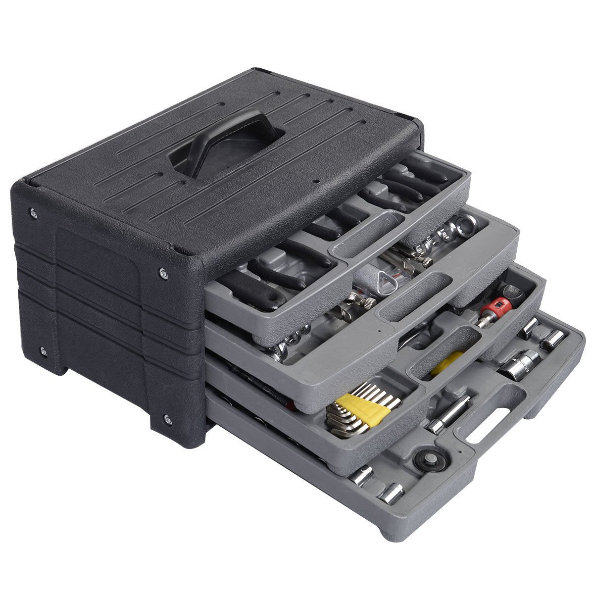 New 99 PCS Garage Tool Mechanic's Tool Kit Set Shop Vehicle Repair four floors by Nature republic