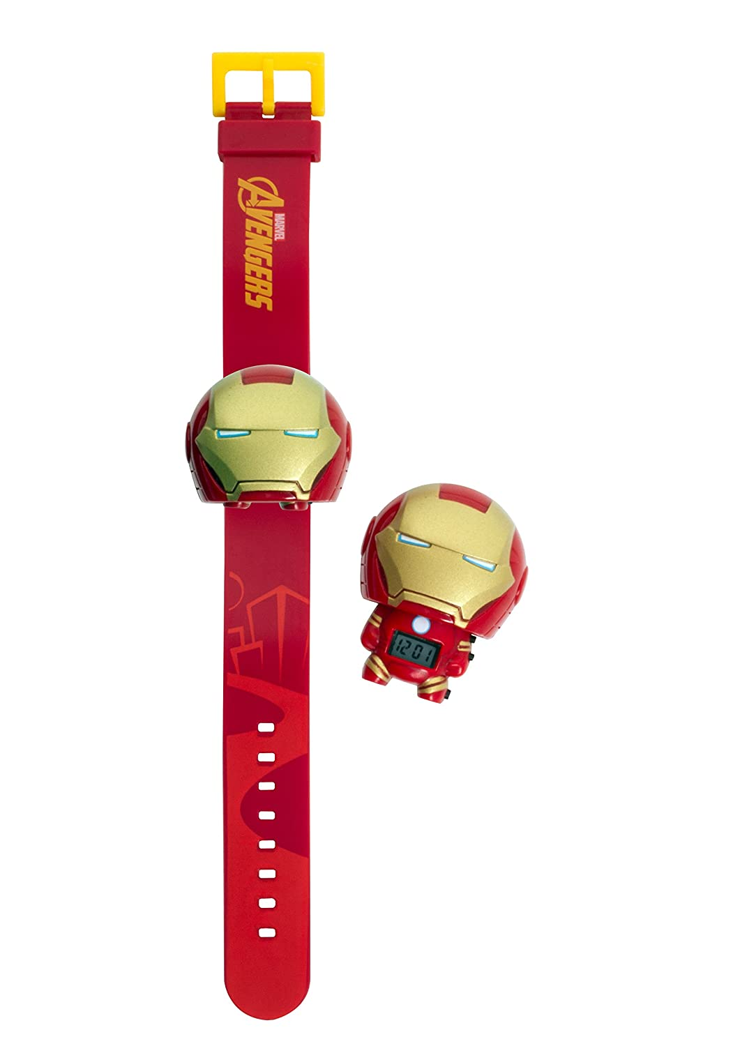 Amazon.com: BulbBotz Marvel 2021142 Iron Man Kids Light up Watch | red/Gold | Plastic | Digital | LCD Display| boy Girl | Official: Bulb Botz: Watches