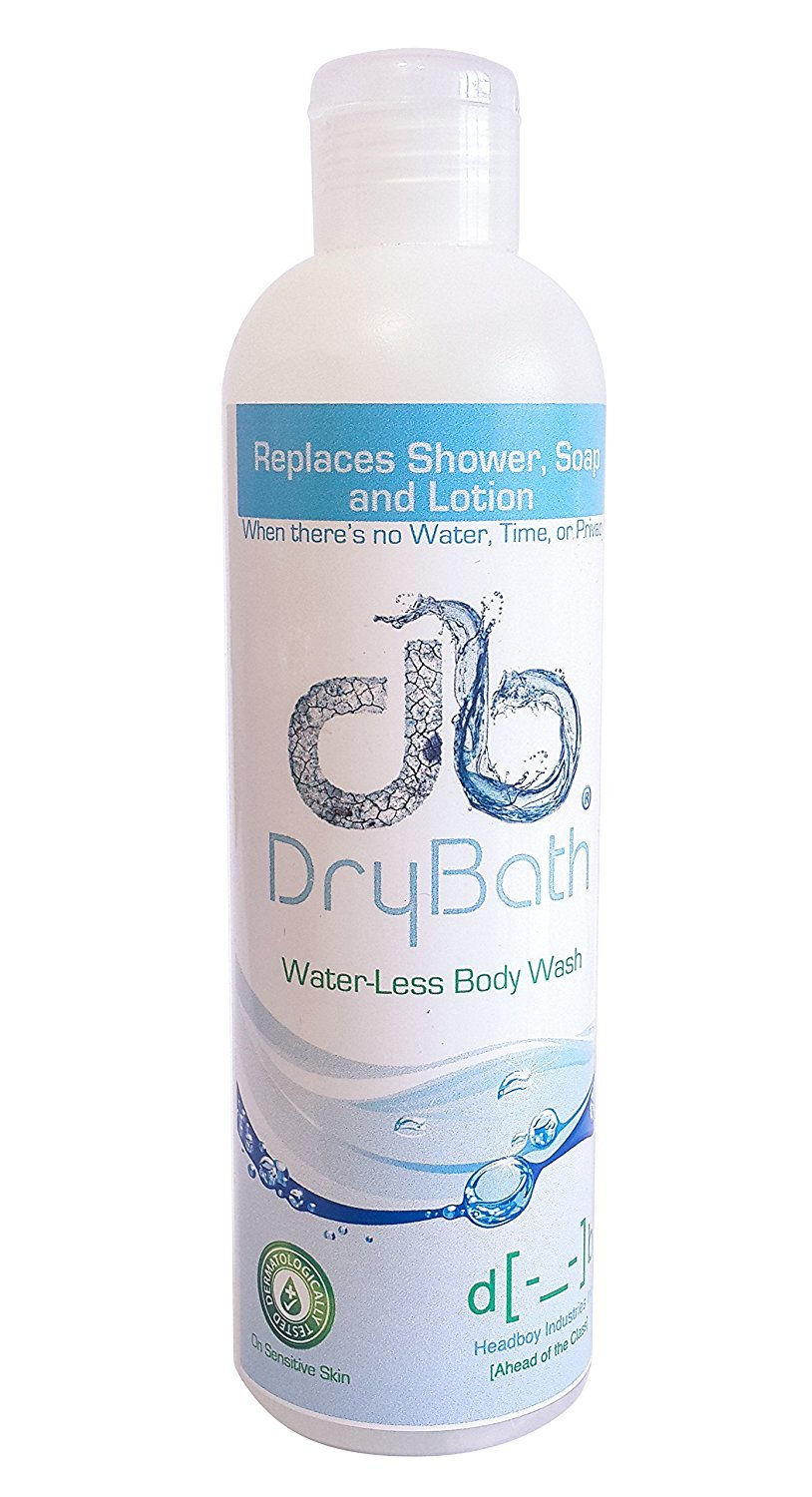Dry Bath Water Less Body Wash 250 ml