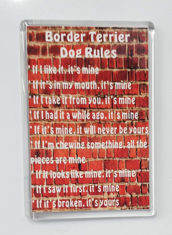 It/'s Mine!/' Dog Fridge Magnet Ideal Present//Gift Terrier Rules