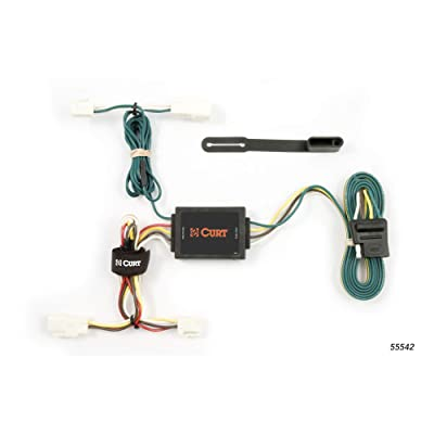 CURT 55542 Vehicle-Side Custom 4-Pin Trailer Wiring Harness for Select Toyota Corolla: Automotive