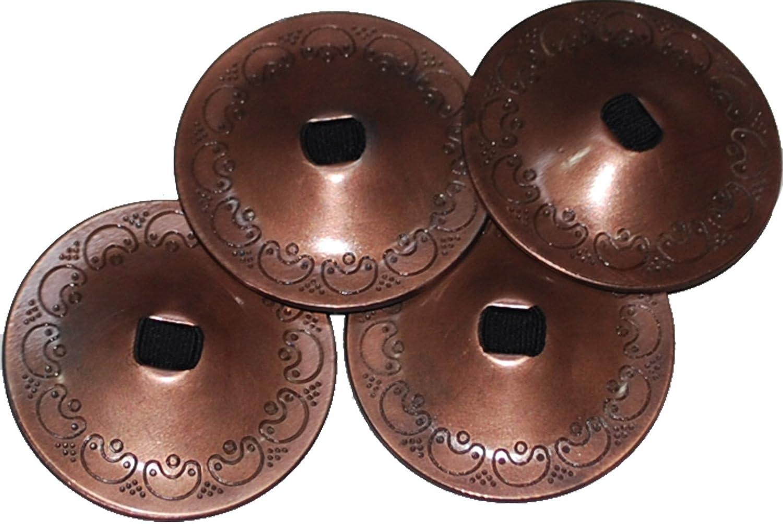 Antique 2 Pairs / 4 Pcs Belly Dance Finger Cymbals Wevez 101103