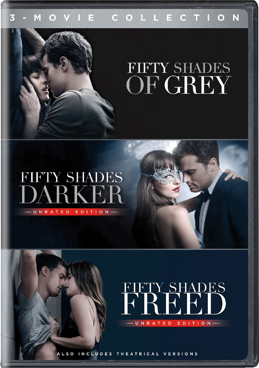 DVD : Fifty Shades: 3-movie Collection (3PC)