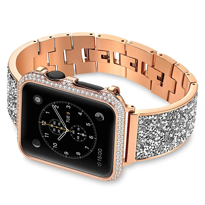 Compatible con iWatch Band 38 mm 42 mm, Pulsera de Acero ...