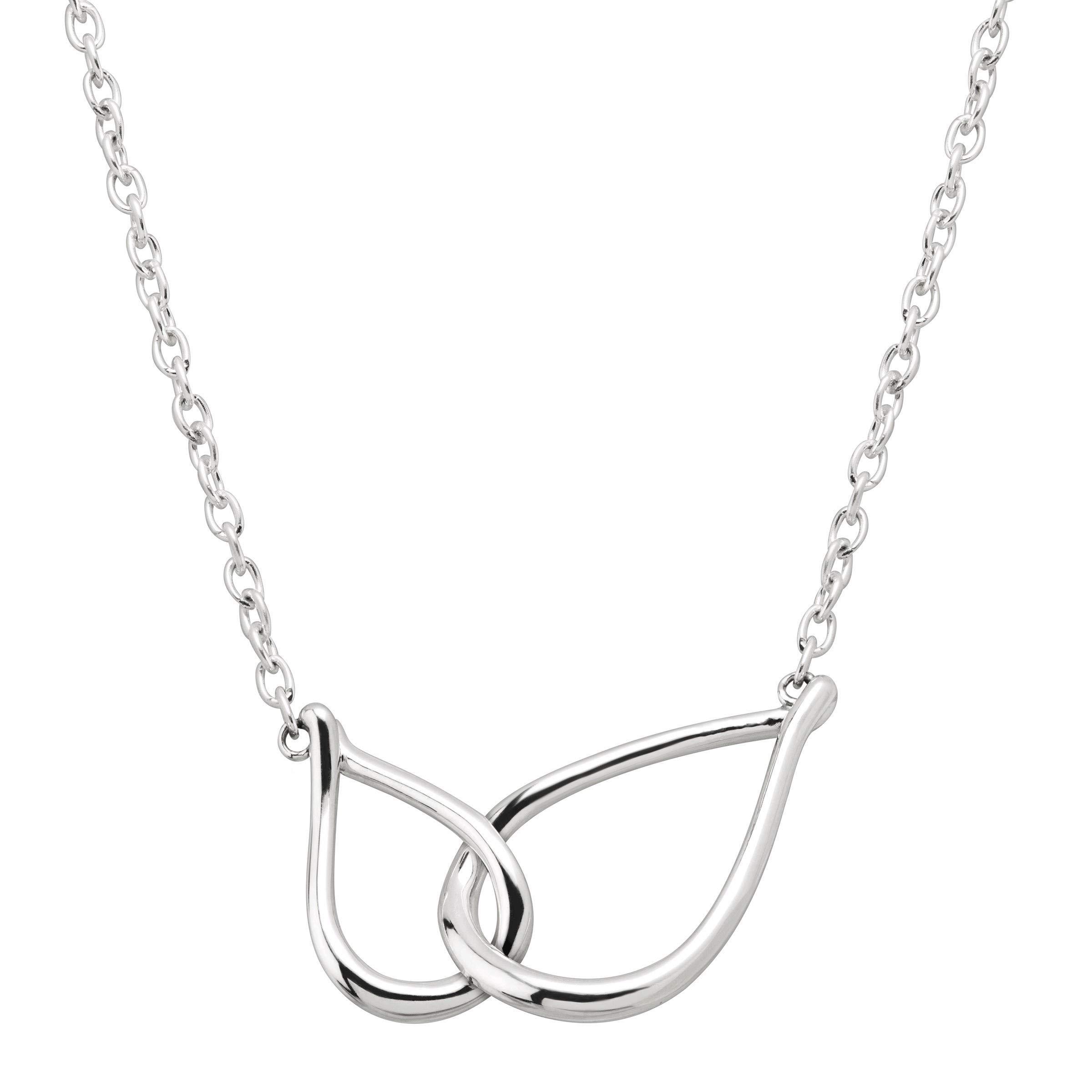 Silpada 'Lovelock' Interlocking Open Teardrop Necklace in Sterling Silver