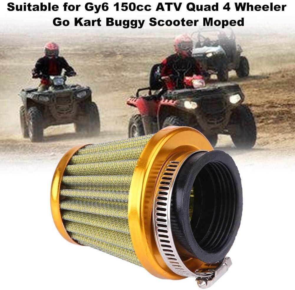 Keenso 44mm Motorrad-Luftfilter f/ür Gy6 150cc ATV Quad 4 Wheeler Go Kart Buggy Roller Moped