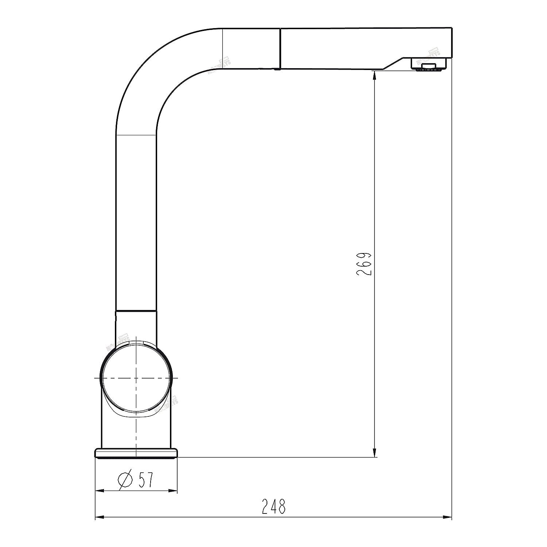 Niederdruck Spültisch Armatur Einhebel Wasserhahn Mischbatterie mit