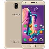 """Telefoni Cellulari in Offerta, v·mobile J5 Smartphone Android 7.0,Dual SIM, 1GB RAM + 8GB ROM, 5.5"""" HD Quad-Core, Fotocamera Anteriore da 2.0MP+5.0MP Fotocamera Posteriore, Batteria 2800mAh(Oro)"""