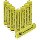 Geilienergy 8 Piece Yellow Color Triple A AAA Size NiCd 600mAh 1.2V Rechargeable Battery For Solar Lamp Solar light