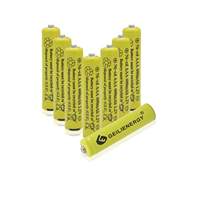 Triple Aaa Number >> Amazon Com Geilienergy Nicd Aaa 1 2v 600mah Triple A Rechargeable