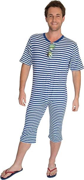 Orlob Costume Da Bagno A Righe Anni 20 Blu S M Amazon It Abbigliamento