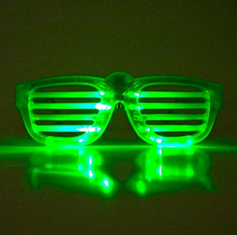 Rockstar led slotted sunglasses speed triple green roulette