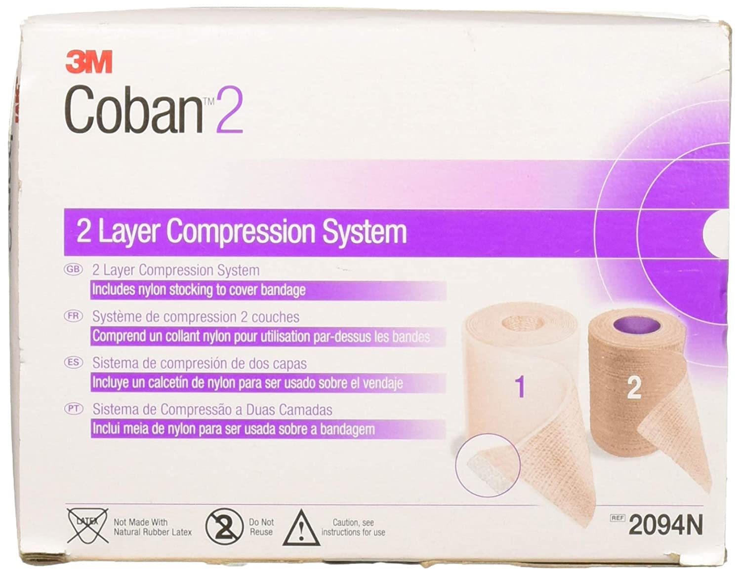 Image of 3M Health Care 2094N Coban Compression System (Pack of 8) Bandages & Bandaging Supplies