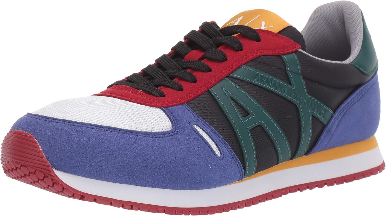 Armani Exchange Retro Running Sneaker, Zapatillas Deportivas. para Hombre