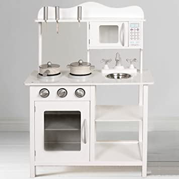 5a9460f0270eb Children s Wooden Play Kitchen Pretend Toy Cooking Role Play - White ...