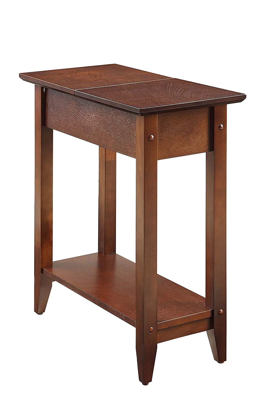 Convenience Concepts 7105059-ES Modern American Heritage Flip Top End Table