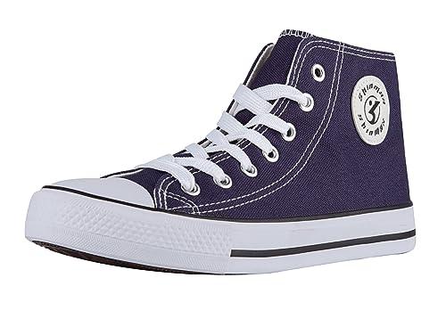 Sneakers blu per unisex Shinmax hxZjF2R3