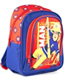 Fireman Sam Red Blue Boy's Kids School Polyester Backpack Bag (One Size)