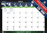 Turner 2016 17-Month Desk Pad, Seattle Seahawks, 12 x 17 inches