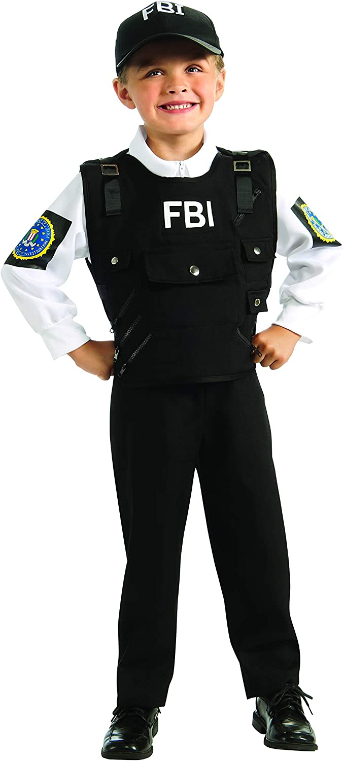 Large Canada Rubies Costume Co Young Heroes FBI Agent Costume