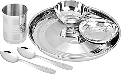 0deeffb4bb Buy Ratna 6 Pc Thali Set Online at Low Prices in India - Amazon.in