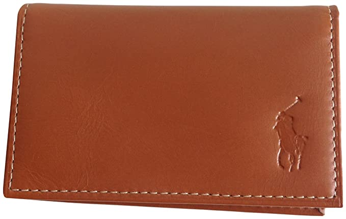 Image Unavailable. Image not available for. Color  Ralph Lauren Polo Men  Big Pony Logo Leather Slim Card Case Wallet Brown d4a39eb86ab