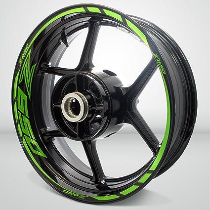 Verde Chiaro Lucido Ruote Moto Cerchione Decalcomanie Accessorio Adesivi per Kawasaki Z650