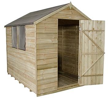 Bosque solapada 6 x 8FT cobertizo con base y la instalación.: Amazon.es: Jardín
