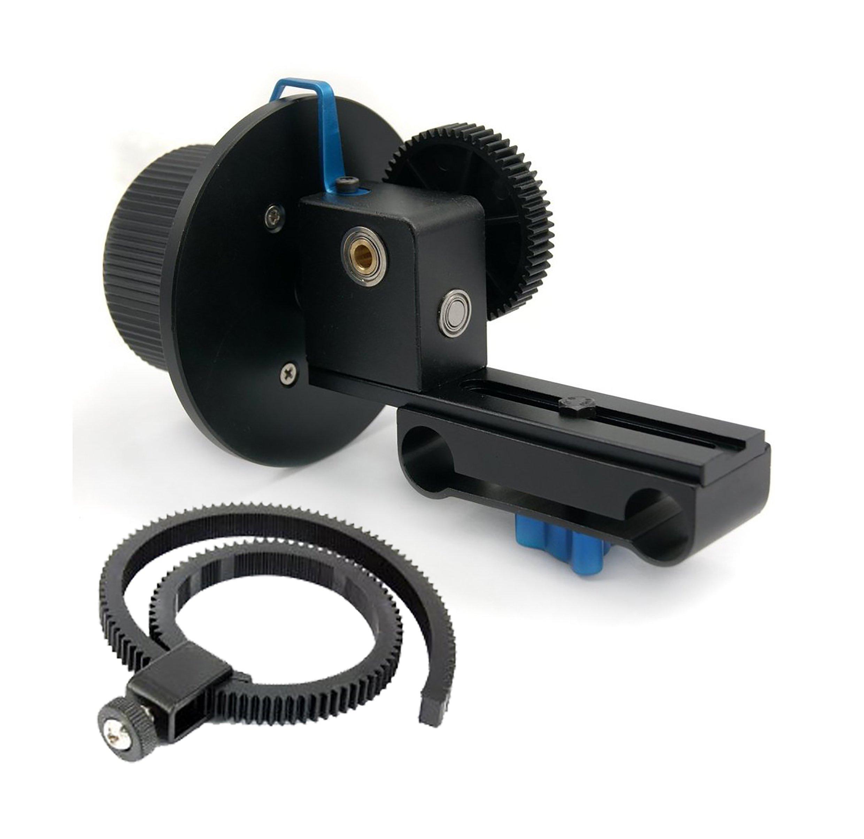 SunSmart Pro DSLR 15mm rod support system Follow Focus With Gear Ring Belt for DSLR cameras by SunSmart (Image #3)