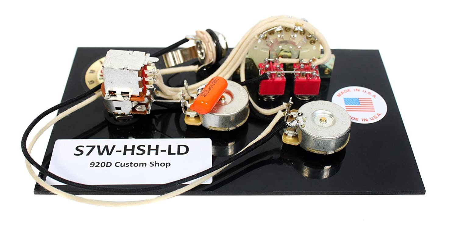 Amazon.com: 920D Fender Strat 7 Way HSH Wiring Harness for Lace Dually w/2  Toggles: Musical Instruments