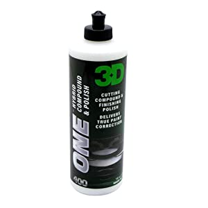 3D One - Professional Cutting, Polishing, and Finishing Compound (32 Oz) for Paint Correction, Auto Detailing and Buffing