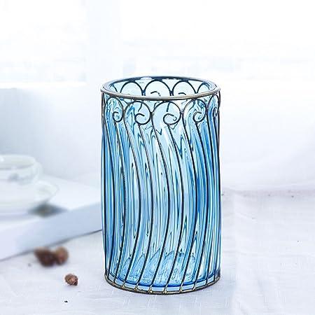 Gaoduzi Small Fresh Living Room Trumpet Vase Vintage Round Colored