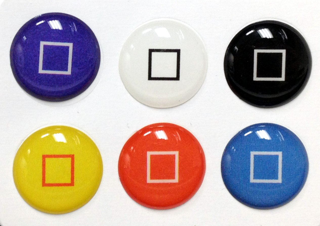 finest selection 2c1c3 4cb49 3D Semi-circular Colors Square Style Home Button Stickers for iPhone 5 4/4s  3GS 3G, iPad 2, iPad Mini, iTouch 6 pieces Blue, Black, White, Red, ...