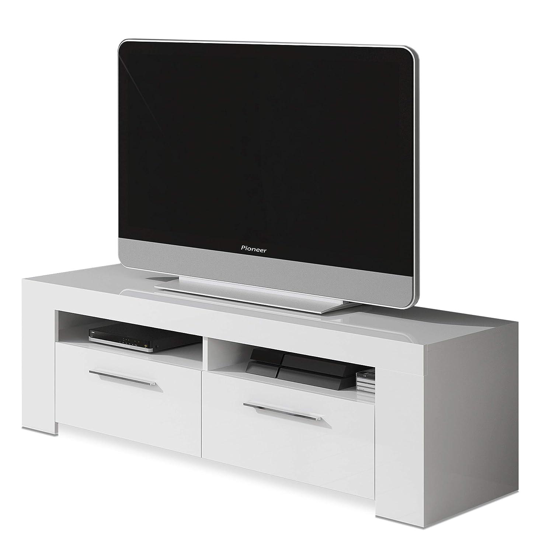 Habitdesign 006621A-Mueble de Comedor Moderno, modulo TV Salon, Modelo Ambit, Acabado en Color, Medidas, Blanco artik, 120 cm (Ancho) x 40 cm (Alto) x ...