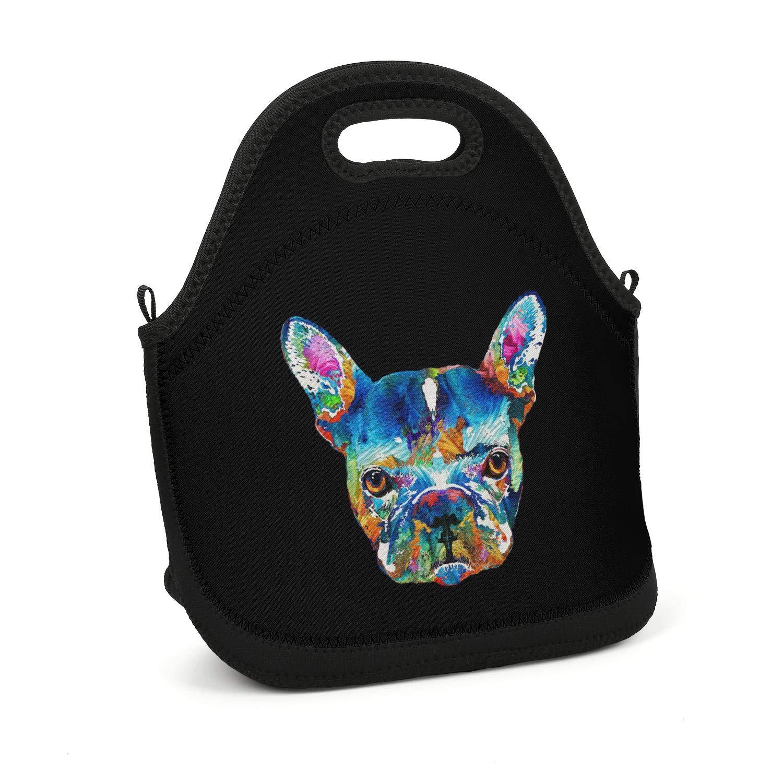 2879cd4e14dd Amazon.com - Hiunisyue Lunch Box Colorful French Bulldog Dog Art ...