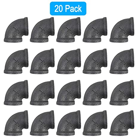 Sensational Goovi 1 2 Pipe Elbow 90 Degree Black Elbow Plumbing Threaded Pipe Fittings Malleable Iron Elbow Cast Pipe Fittings For Diy Pipe Furniture Creativecarmelina Interior Chair Design Creativecarmelinacom