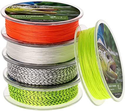 -2PCS Fly Line Backing 20LB 30LB 100 Yds for Trout Fishing Orange White Fluorescent Yellow