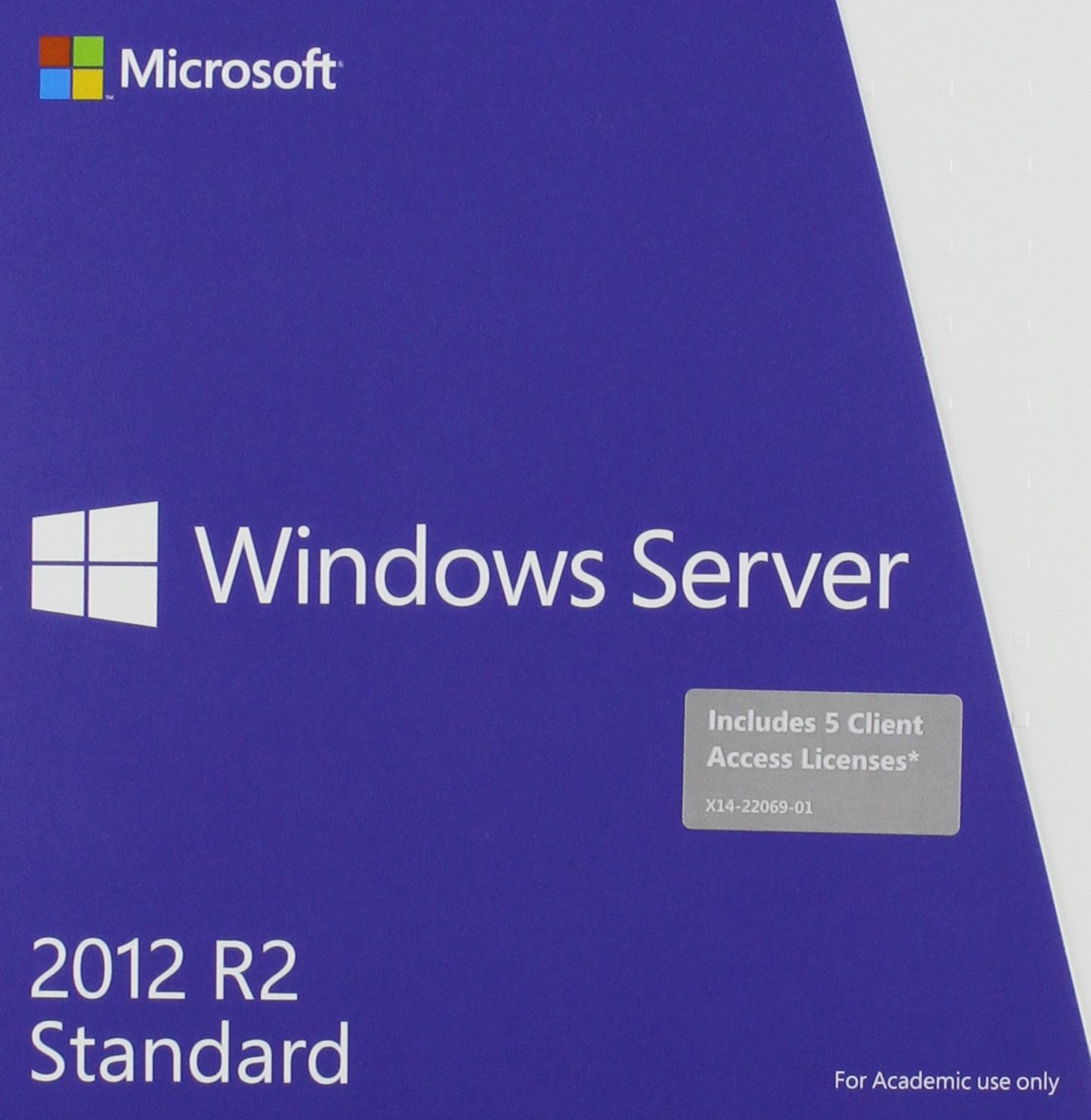 Microsoft Windows Server Standard 2012 R2 64 Bit English Academic Edition DVD 5 Clt by Microsoft