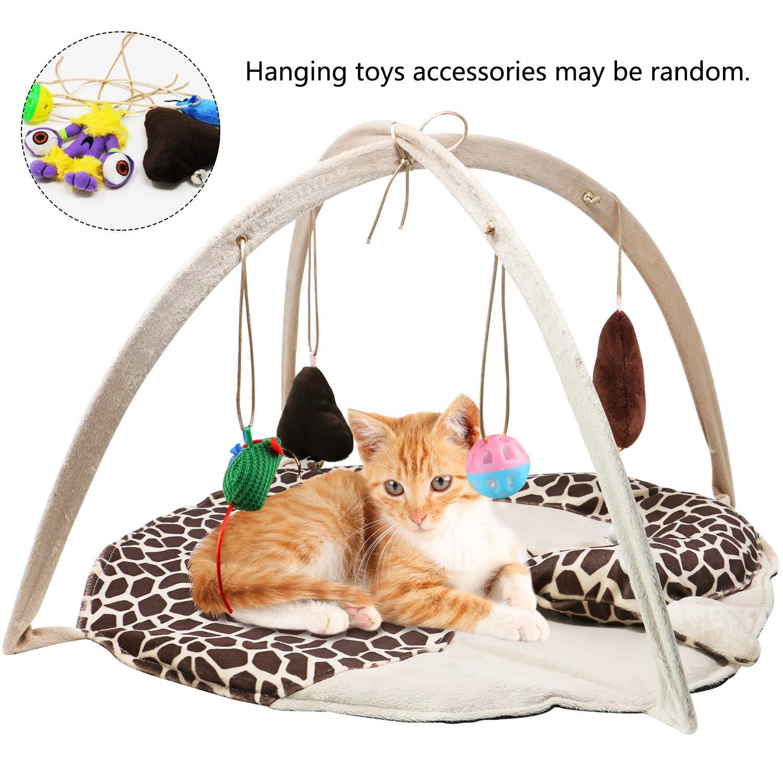 Amazon.com: B bascolor Cat Play Mat Cama Con 4 pelotas de ...