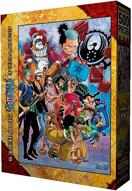 MPJTJGWZ Japanese Anime One Piece Jigsaw Puzzles Wooden 500 Piece Stress Relief Family Interactive Games Gift