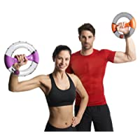 New Powerspin Evo Arm, Tricep & Shoulder Workout, Abdominal Home Exerciser & Bingo Wings Exerciser - Rapidly Builds Toned Arms, Abs and Shoulders Through Isometric Exercise