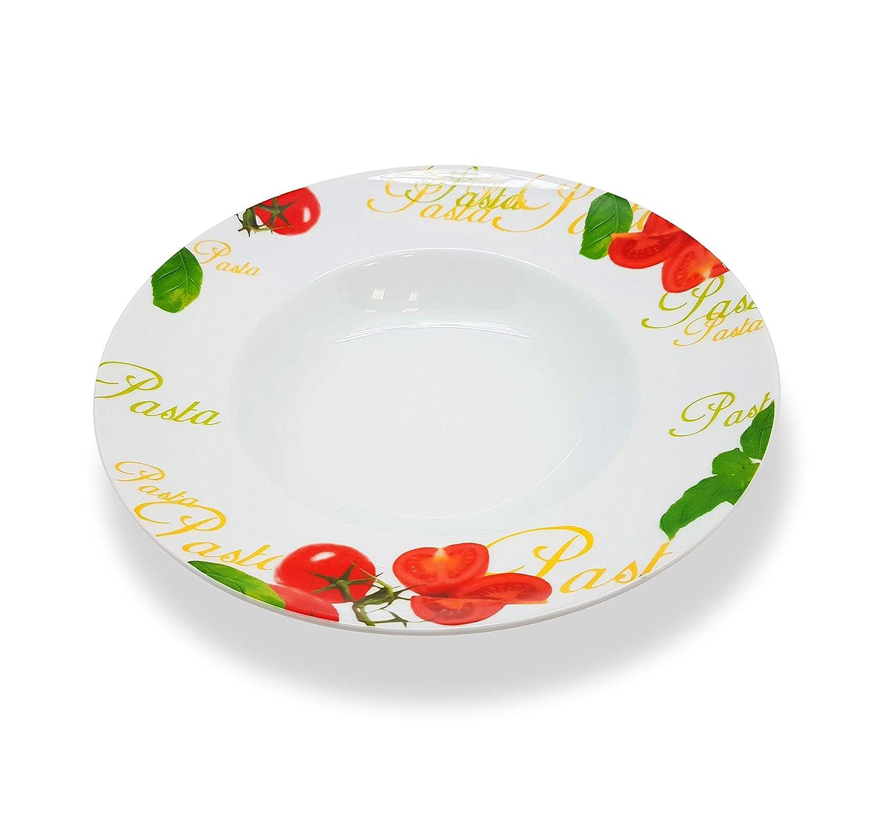 Böckling Juego de 6 Platos de Pasta (27 cm, Porcelana), diseño de ...