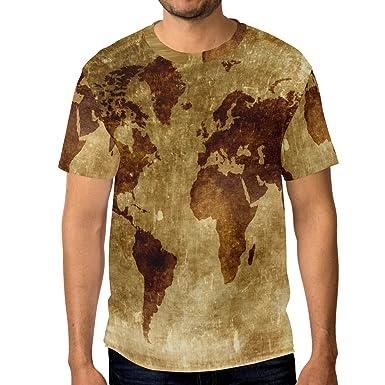 Vintage old world map mens 3d printed short sleeve t shirt top tee vintage old world map mens 3d printed short sleeve t shirt top tee gumiabroncs Gallery