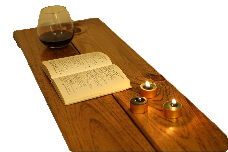 Hand-Made Barnboard Wood Bathtub Caddy Tray (Tub Table) Espresso Brown (26 Wide) Mill & Saw