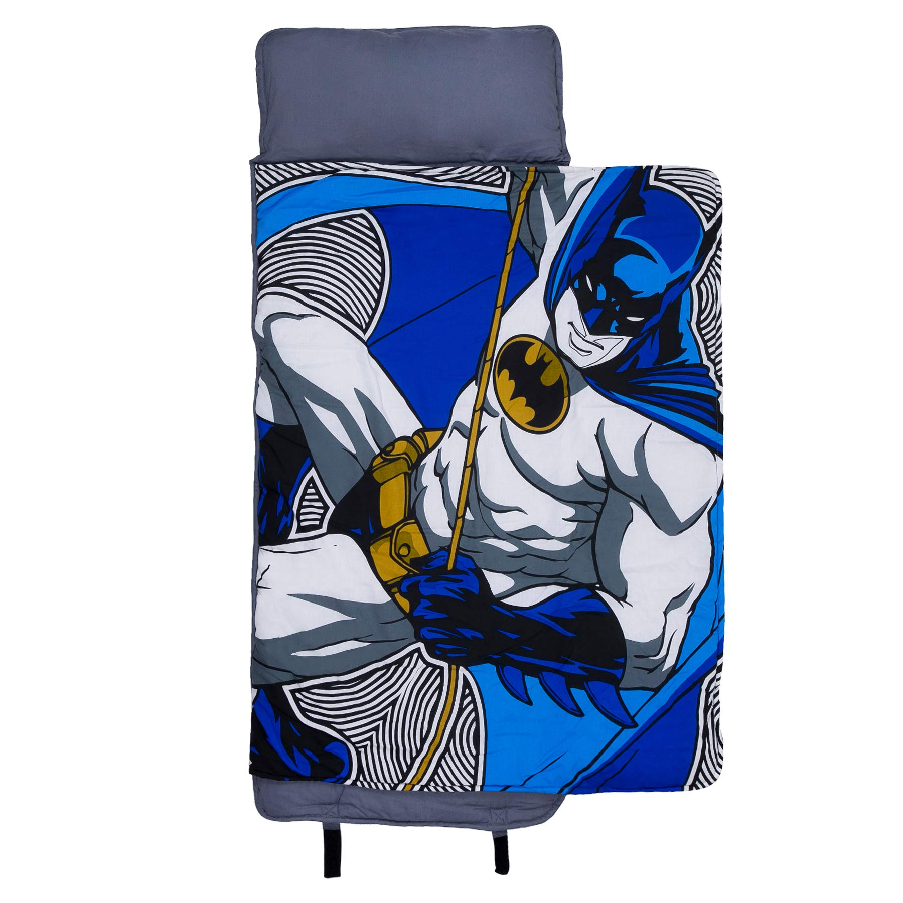 Wildkin Original Nap Mat, Features Built-In Blanket and Pillow, Perfect for Daycare and Preschool or Napping On-the-Go – Batman