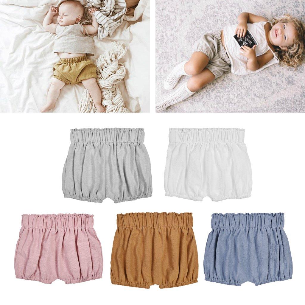 Jiamins Bloomer Bébé, Toddler Shorts, Infant Summer Panties, Ruffle Bloomers Ruffle Bloomers (Blanc)