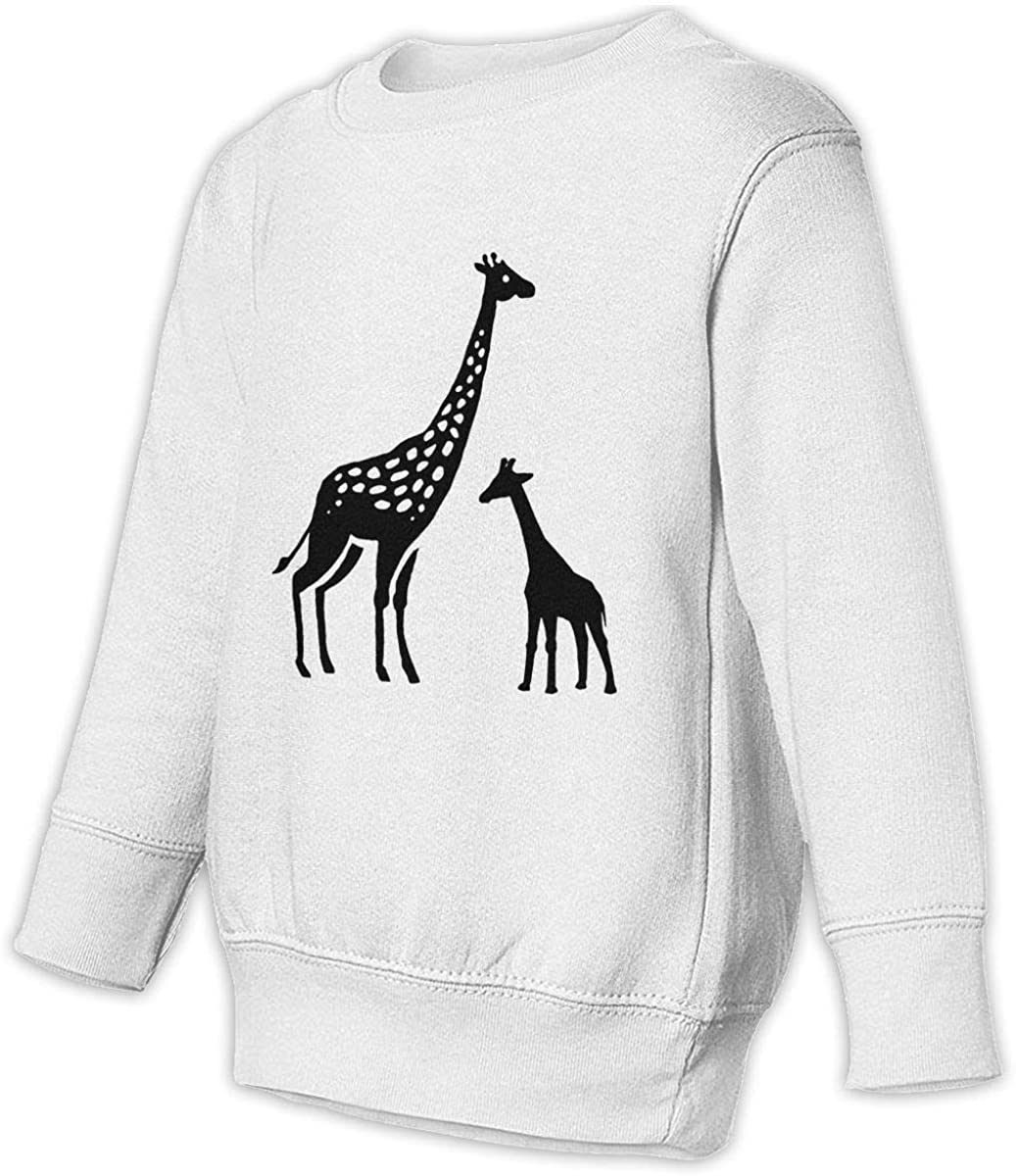 wudici Giraffe Boys Girls Pullover Sweaters Crewneck Sweatshirts Clothes for 2-6 Years Old Children