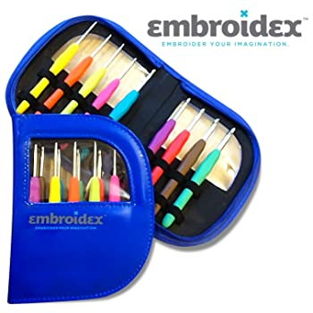 Embroidex 9 Pc Ergonomic Crochet Hooks