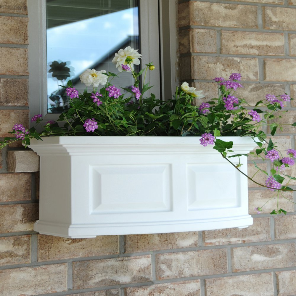 Mayne Nantucket 2 ft. Window Box in Clay